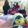 Delivering Super Baskets of Hope and Pillow Pets at Riley Children's Hospital. Photo by Monica Polkow