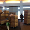 Unloading truck of Pillow Pets at Northview Church. Photo by Monica Polkow