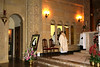 cloistered nuns receive communion at the side room where they attend Mass at the chapel