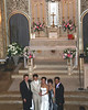 wedding party at the chapel at the Carmel of the Infant Jesus monastery