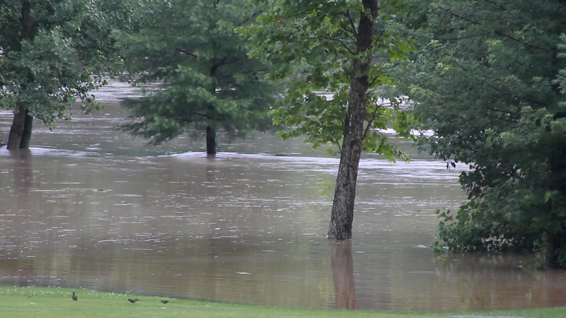 Flooding of the Riverwoods Golf Course located on Akron-Peninsula Rd.