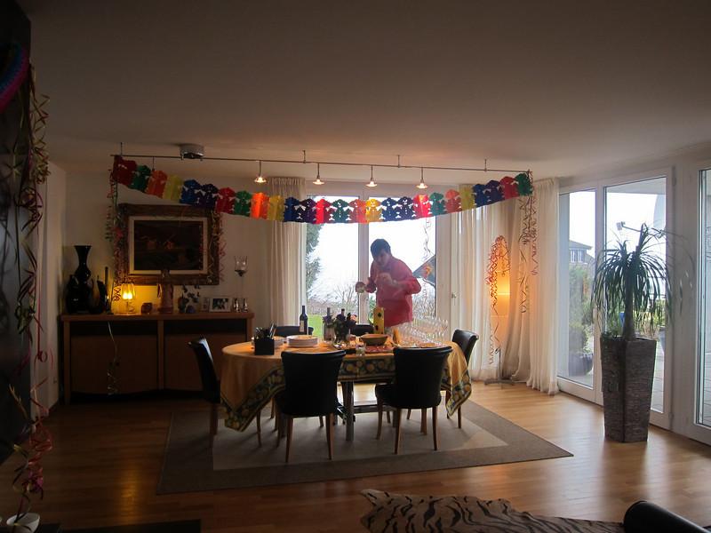Preparando a festa