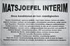 Orde van de Baksteen - Interim regering nodig ??? … Geen probleem, bel Suzanne van Matsjoefel interim