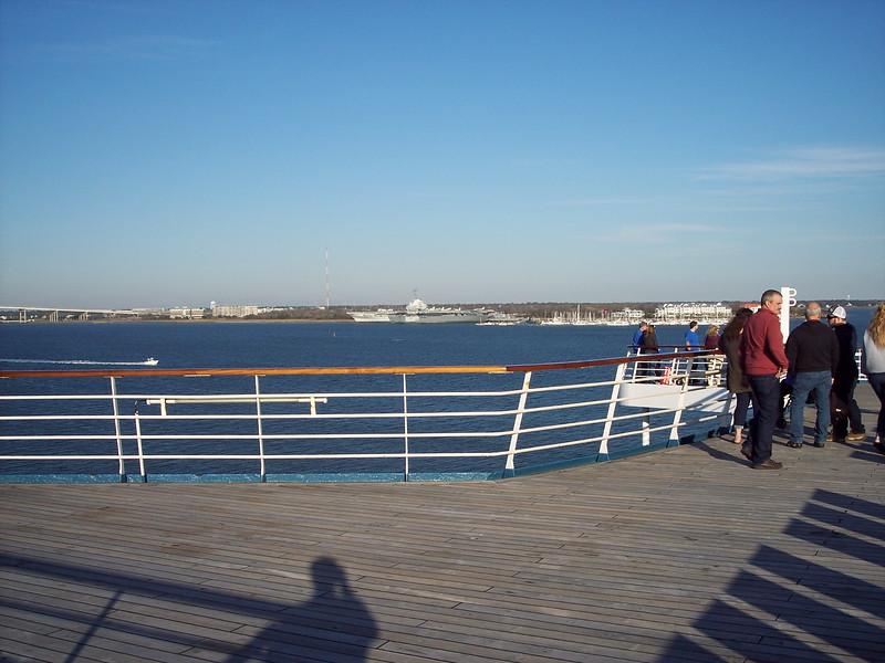 Rear deck before departure
