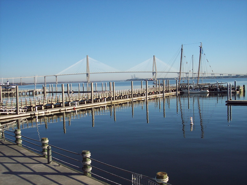 Charleston harbor on Saturday morning