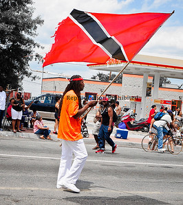 Repping Trinidad. This man was waving the flag with pride.