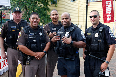 Deputies from Fairfax County Sheriffs Office and officers from Herndon do a great job of making the Herndon Festival a  safe time for all.