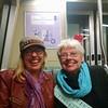mom and jenny on BART