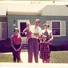 1957, In front of home on Minnetonka Blvd, St. louis Park<br /> Carol. Paul, Gerhard, Irene and Mary