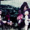 1959<br /> Picnic with buffalo on side of road on our way to Fargo, ND