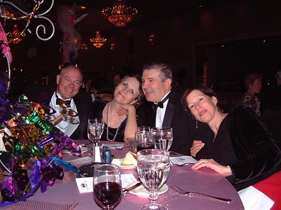 Table guests (Gene, Diane, and Carol)