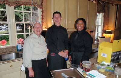 The delightful staff from Craig Mitchell Catering in the kitchen....they were wonderful!