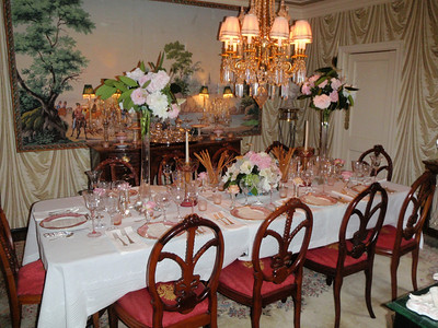 """An exquisite Dining Room setting welcomed our """"group of 10"""" for dinner"""