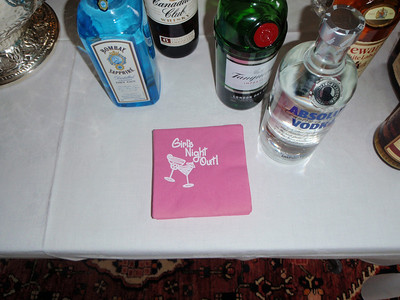 Cute cocktail napkins selected for our event (and even in pink like the peonies and roses)!