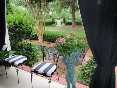 View of the back yard from the sunporch