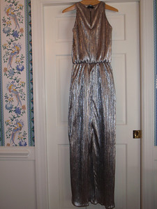 Finished gown (without belt) - back with slit
