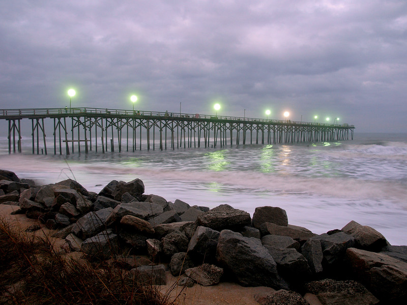 Carolina Beach Pier lights