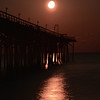 Moon over CB pier