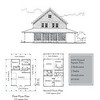 This plan is a house plan with an attached 2 -car garage. There are 3 Bedrooms and 2 Bathrooms at 1684 Heated Square Feet above. Carolina Inspirations Book I, Page 97, C0056.