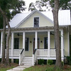 The Coosaw River Cottage by Allison Ramsey Architects built at Coosaw Point in Beaufort, South Carolina. This plan is 1705 Heated Square Feet, 3 Bedrooms & 2 1/2 Bathrooms. Carolina Inspirations Book I, Page 63, C0030.