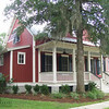 The Oak Spring Plan by Allison Ramsey Architects built at Coosaw Point in Beaufort, South Carolina. This plan is 1897 Heated Square Feet, 3 Bedrooms & 2 1/2 Bathrooms. Carolina Inspirations Book I, Page 74, C0023.