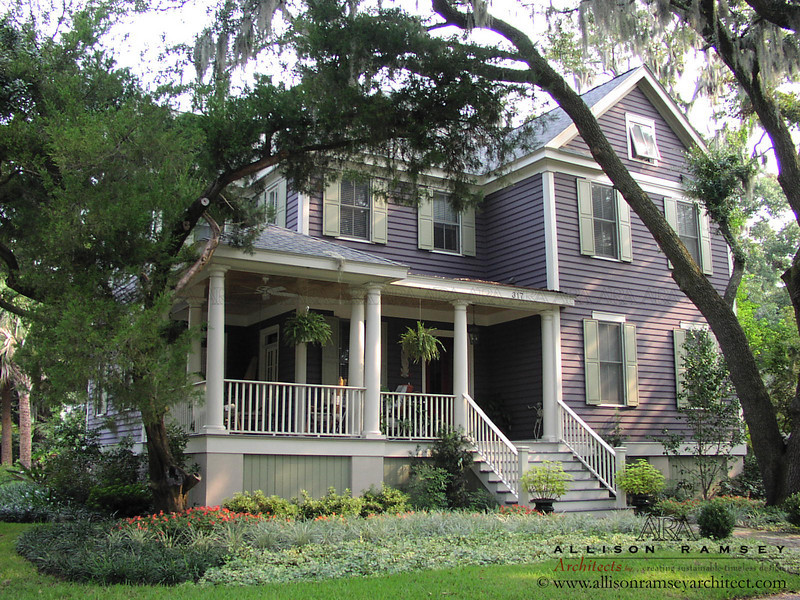 Tallmadge plan by Allison Ramsey Architects built at Old Point in Beaufort, South Carolina. This plan is 2812 Heated Square Feet, 3 Bedrooms and 3 Bathrooms. Carolina Inspirations Book I, page 38, C0240.
