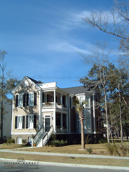 The Essex Plan by Allison Ramsey Architects built at I'on in Mount Pleasant, South Carolina. This plan is 3109 Heated Square Feet, 3 Bedrooms & 3 Bathrooms. Carolina Inspirations Book I, Page 87, C0222.