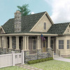 The Hayek Plan by Allison Ramsey Architects is 1727 Heated Square Feet, 3 Bedrooms & 3 Bathrooms. Carolina Inspirations Book I, Page 85, C0026 edit
