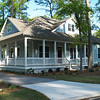 The Inlet Retreat by Allison Ramsey Architects built at Fuller Street Cottages in Beaufort, South Carolina. This plan is 2193 Heated Square Feet, 3 Bedrooms and 3 Bathrooms. Carolina Inspirations Book I, Page 12, C0037.