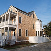 The Legare Plan by Allison Ramsey Architects built at East Beach in Norfolk, Virginia. This plan is 2105 Heated Square Feet, 3 Bedrooms and 3 1/2 Bathrooms. Carolina Inspirations Book I, Page 16, C0221.