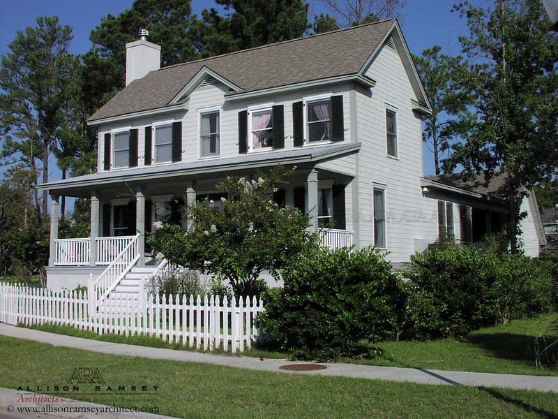 The Pendleton Plan by Allison Ramsey Architects built at Battery Point in Beaufort, South Carolina. This plan is 2188 Heated Square Feet, 4 Bedrooms & 3 1/2 Bathrooms. Carolina Inspirations Book I, Page 82, C0044.