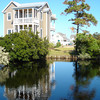 The Radcliffe plan by Allison Ramsey Architects built at Cypress Cove in Nags Head, North Carolina. This plan is 1738 Heated Square Feet, 3 Bedrooms and 3 Bathrooms. Carolina Inspirations Book I, page 39, C0032.