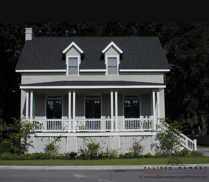 The Southside Cottage by Allison Ramsey Architects built at Battery Point in Beaufort, South Carolina. This plan is  1641 Heated Square Feet, 3 Bedrooms and 2 Bathrooms. Carolina Inspirations I, Page 3, C0003.