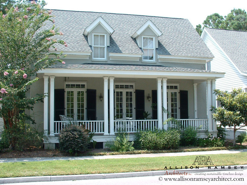 The Southside Cottage by Allison Ramsey Architects built at I'on in Mount Pleasant, South Carolina. This plan is  1641 Heated Square Feet, 3 Bedrooms and 2 Bathrooms. Carolina Inspirations I, Page 3, C0003.