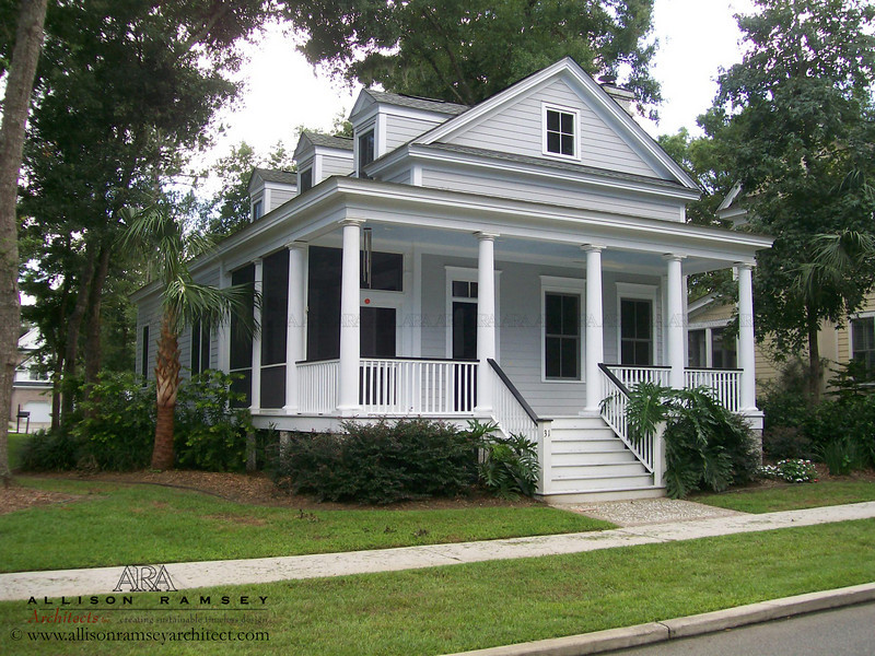 The Verdier Plan by Allison Ramsey Architects at Coosaw Point in Beaufort, South Carolina. This plan is 1772 Heated Square Feet, 3 Bedrooms and 2 1/2 Bathrooms. Carolina Inspirations Book I, Page 7, C0012.