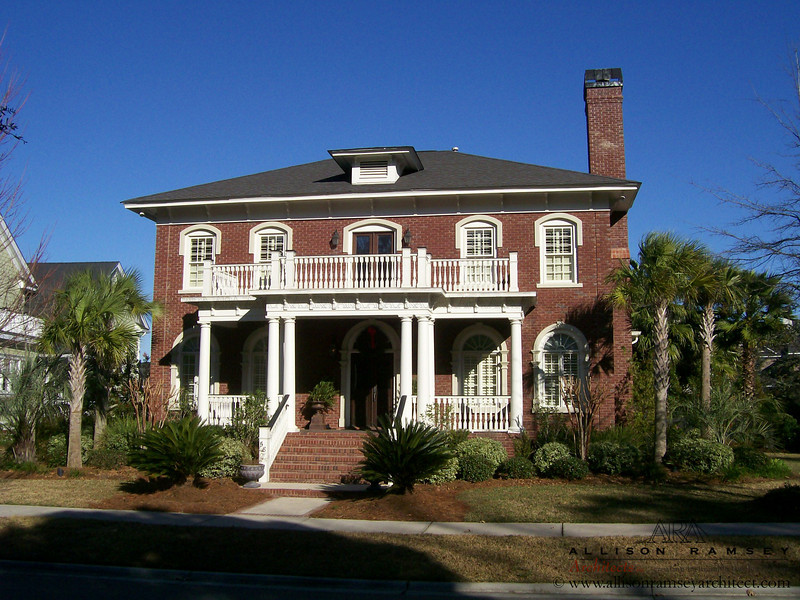 The Villa Livorno Plan by Allison Ramsey Architects built in Charleston, South Carolina. This plan is 3414 Heated Square Feet, 4 Bedrooms and 3 1/2 Bathrooms. Carolina Inspirations Book 1, Page 6, C0234.