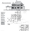 The Alexandria Plan by Allison Ramsey Architects is 5373 Heated Square Feet, 4 Bedrooms and 3 1/2 Bathrooms. Carolina Inspirations, Book II, Page 86, NC0040.