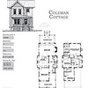The Coleman Cottage Plan by Allison Ramsey Architects is 1822 Heated Square Feet, 3 Bedrooms and 2.5 Bathrooms. Carolina Inspirations, Book II, Page 68, C0342.