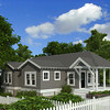 The Duke Street Cottage Plan by Allison Ramsey Architects is 1053 Heated Square Feet, 3 Bedrooms and 2 Bathrooms. Carolina Inspirations, Book II, Page 67, C0406. (Rendering provided for Haven Homes)