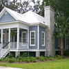 The King Street Cottage Plan by Allison Ramsey Architects built at Coosaw Point in Beaufort, South Carolina. This plan is 1490 Heated Square Feet, 3 Bedrooms & 2 Bathrooms. Carolina Inspirations Book II, Page 08.