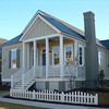 The King Street Cottage Plan by Allison Ramsey Architects built in Manteo, North Carolina. This plan is 1490 Heated Square Feet, 3 Bedrooms & 2 Bathrooms. Carolina Inspirations Book II, Page 08.