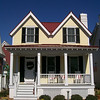 The Parrot Creek Cottage by Allison Ramsey Architects built at East Beach in Norfolk, Virginia. This plan is 1847 Heated Square Feet, 3 Bedrooms and 2 1/2 Bathrooms. Carolina Inspirations, Book II, Page 75, C0344.