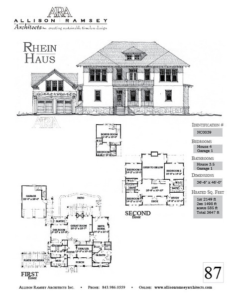 Captivating The Rhein Haus Plan By Allison Ramsey Architects Is 3647 Heated Square  Feet, 4 Bedrooms