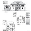 The Rhein Haus Plan by Allison Ramsey Architects is 3647 Heated Square Feet, 4 Bedrooms and 3 1/2 Bathrooms in the house. The Bonus above the garage has an additional Bedroom and Bathroom. Carolina Inspirations, Book II, Page 87, NC0040.