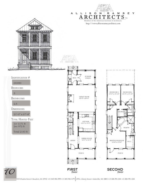 This plan is 2076 Heated Square Feet, 3 Bedrooms and 2 1/2 Bathooms. Carolina Inspirations Book II, Page 10.