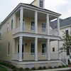 The Riley Plan by Allison Ramsey Architects built at East Beach in Norfolk, Virginia. This plan is 2076 Heated Square Feet, 3 Bedrooms and 2 1/2 Bathooms. Carolina Inspirations Book II, Page 10.