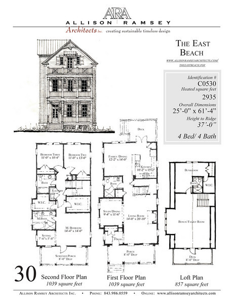This plan is 2935 Heated Square Feet, 4 Bedrooms and 4 Bathrooms. Carolina Inspirations, Book III, Page 30, C0530.
