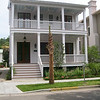The Scott Street Plan by Allison Ramsey Ramsey Architects built in downtown Beaufort, South Carolina. This plan is 2161 Heated Square Feet, 3 Bedrooms and 2 1/2 Bathrooms. Carolina Inspirations, Book III, Page 10, C0510.