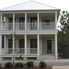 The Gulfside Square Plan by Allison Ramsey Architects built at Watercolor in Fort Walton Beach, Florida. This plan is 1997 Heated Square Feet, 4 Bedrooms and 3 Bathrooms. Carolina Inspirations, Book III, Page 62, C0562.