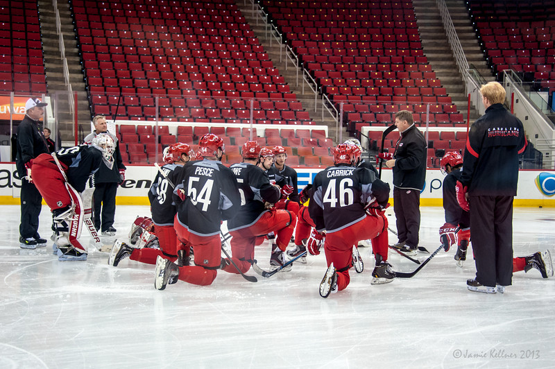 July 16, 2013.  Carolina Hurricanes Prospect Development Camp, PNC Arena, Raleigh, NC.  © 2013 Jamie Kellner. All Rights Reserved.